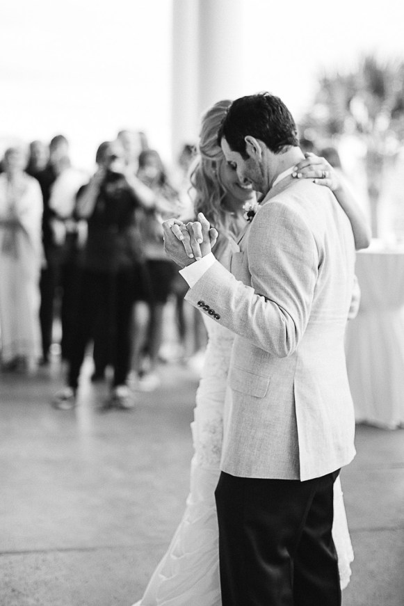 The Bride and Groom - The First Dance - Bald Head Island Wedding - Photo by Eric Boneske