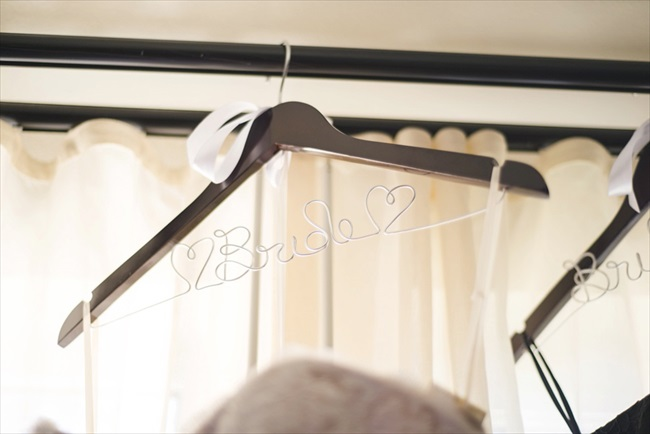 personalized bride wedding hanger