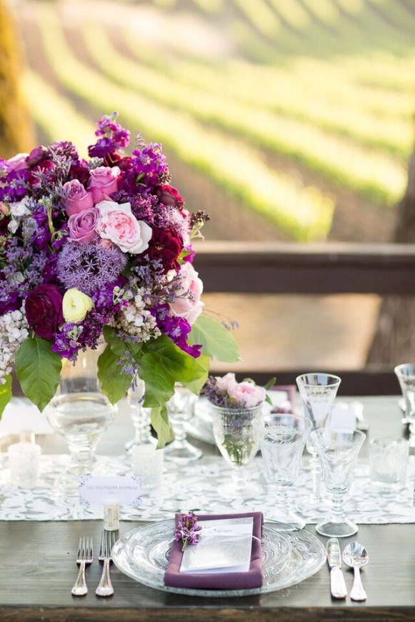 Winery Styled Wedding Shoot - Elegant Place Setting