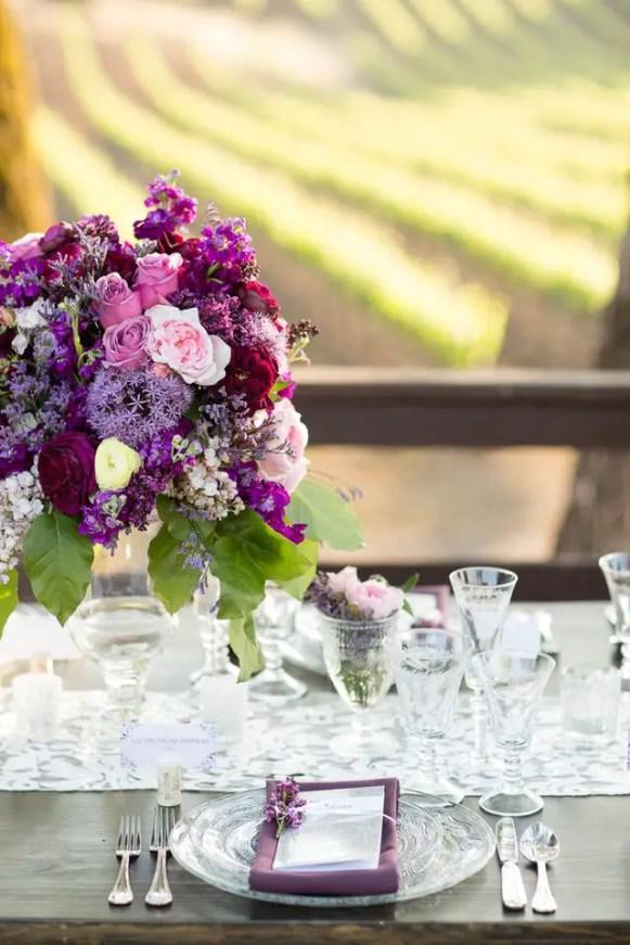 Winery Styled Wedding Shoot - Elegant Place Setting