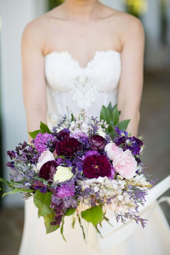 Winery Styled Wedding Shoot - The Bride Holding Her Bouquet