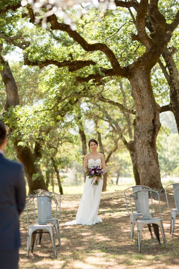 Winery Styled Wedding Shoot - The Bride Walking Down the Aisle