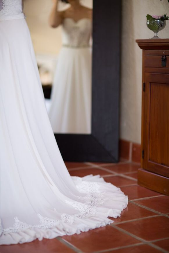 Winery Styled Wedding Shoot - The Bride's Beautiful Train