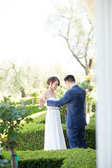 Winery Styled Wedding Shoot - The First Look
