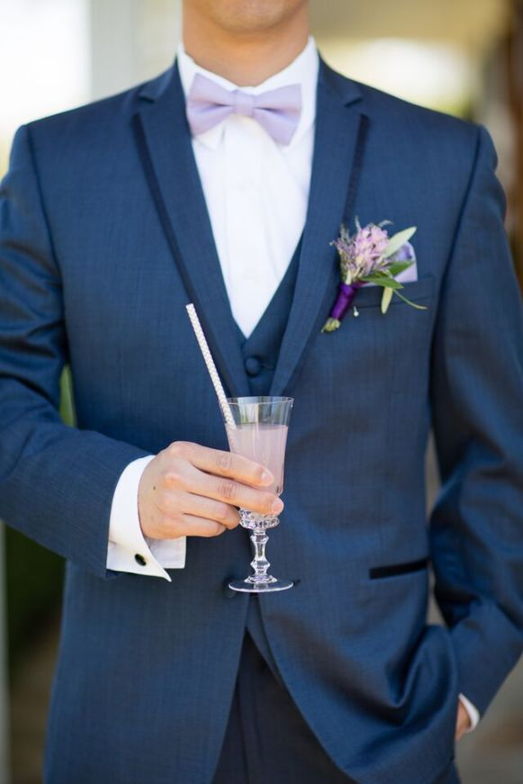 Winery Styled Wedding Shoot - The Groom Holding Drink