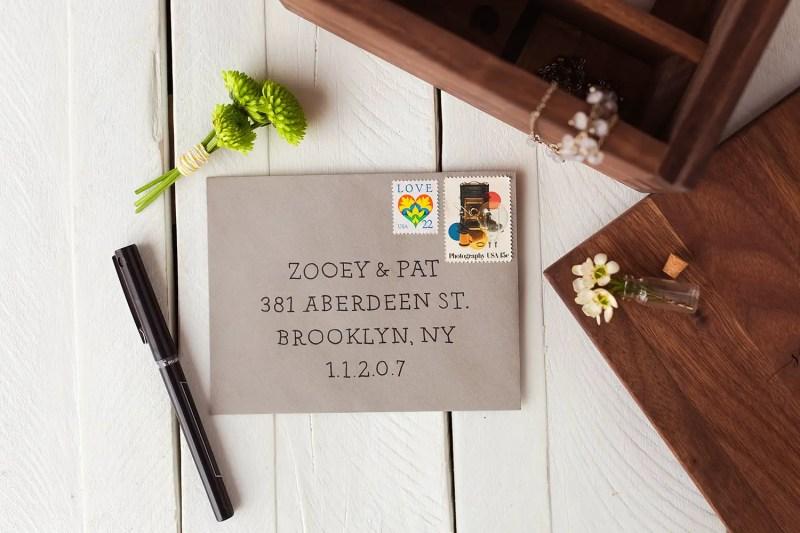 address envelopes with straight line