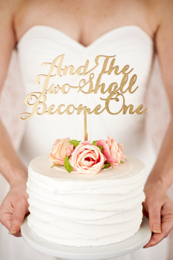 18 Chic + Ultra-Stylish Statement Cake Toppers