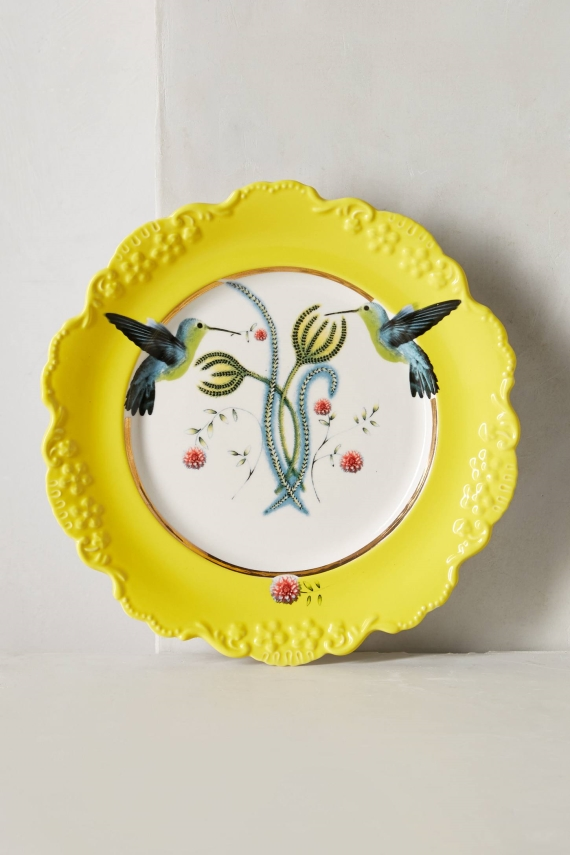 anthropologie china dinner plate via 27 Amazing Anniversary Gifts by Year