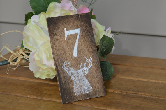 antler table numbers by red heart creations
