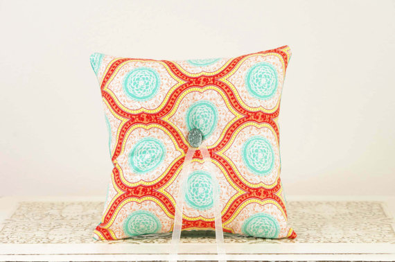 ceremony ring pillows that pop (wedding ring pillow by duryea place designs)