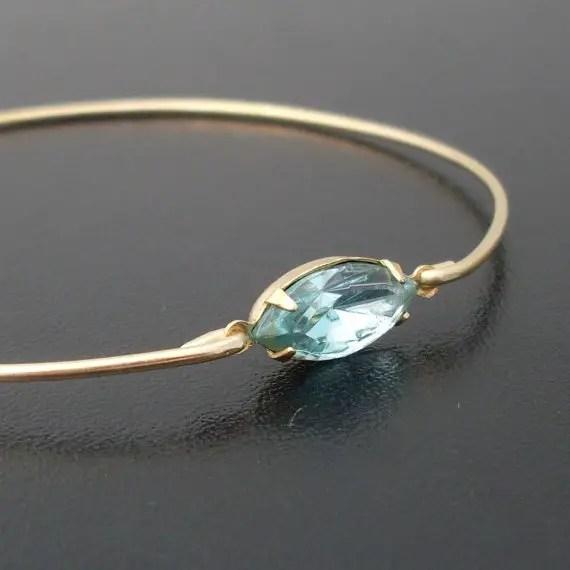 aquamarine bracelet | via Best Aquamarine Jewelry Finds on Etsy - http://emmalinebride.com/bride/best-aquamarine-jewelry/