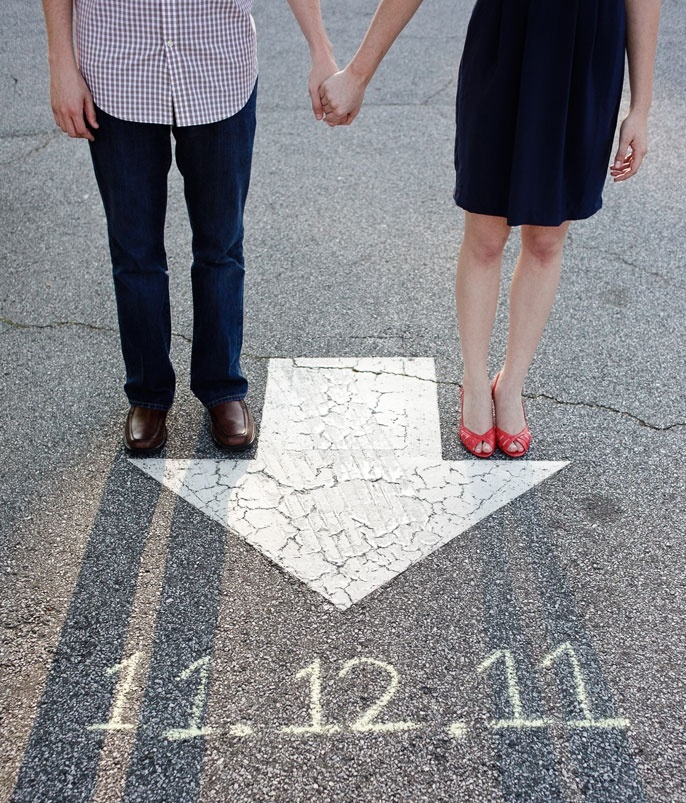 arrow save the date idea