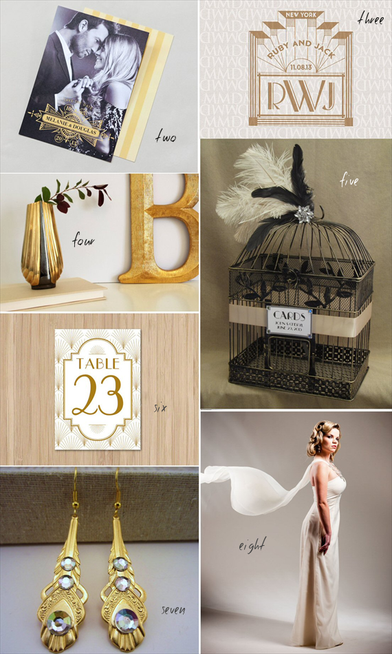 21 art decor wedding ideas straight out of the 1920s for Deco inspiration
