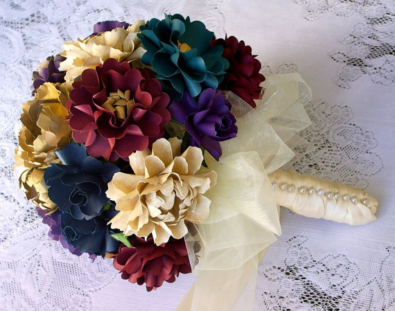 Wedding Bouquets Made of Paper