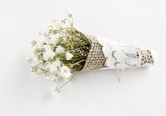 Baby's Breath Wedding Boutonniere