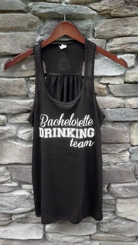 bachelorette drinking team tank by waterfal designs
