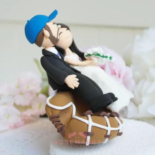 baseball lover cake topper 2