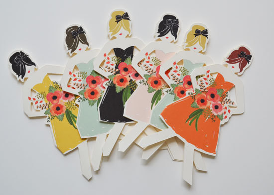 be my bridesmaid paper dolls
