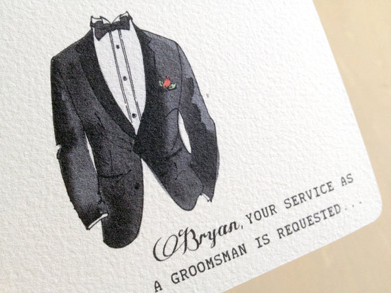 be my groomsmen card - paper goods wedding