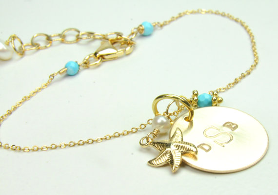 beach wedding starfish bracelet