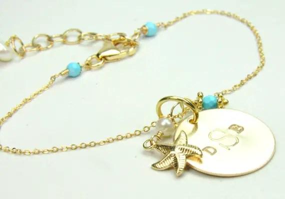 beach wedding starfish bracelet via Beach Wedding Jewelry Ideas for Bridesmaids