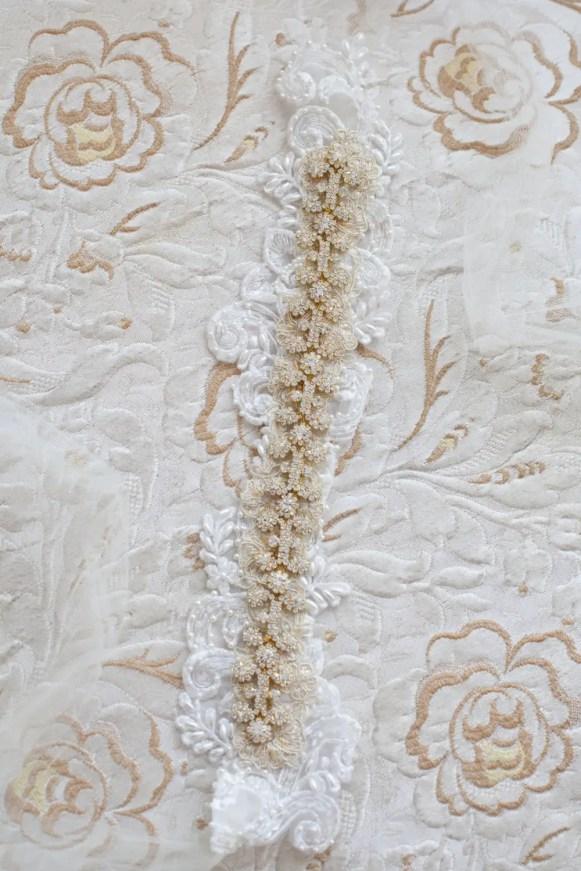 beautiful gold bridal sash