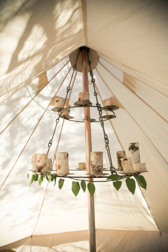 bell tent chandlier large