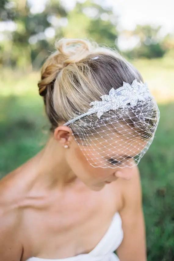 birdcage veil headband