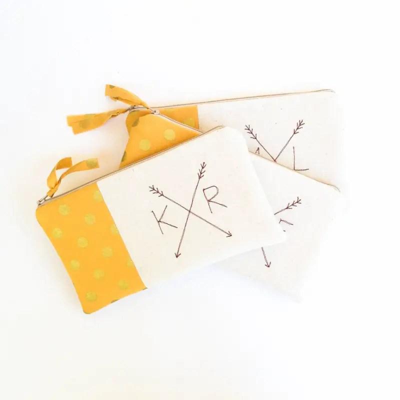 bohemian inspired arrow clutches