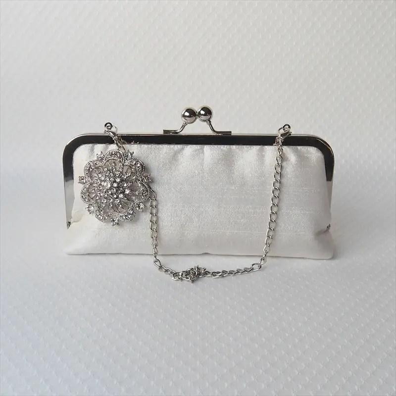 bridal clutch purse inner lining