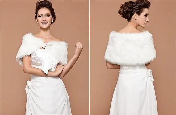bridal cover ups faux fur stole