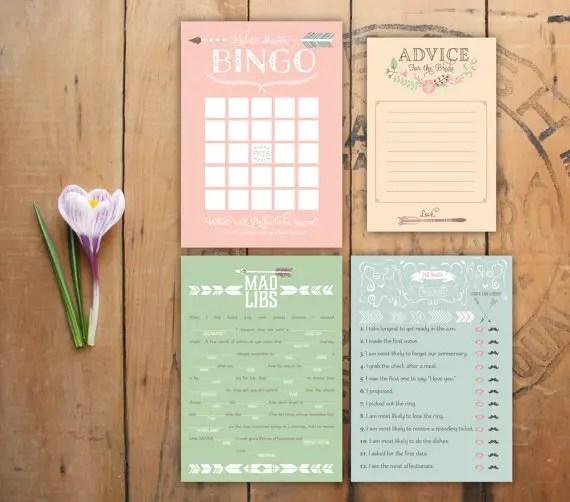 bridal shower printable games via 10 Amazing Handmade Paper Decorations