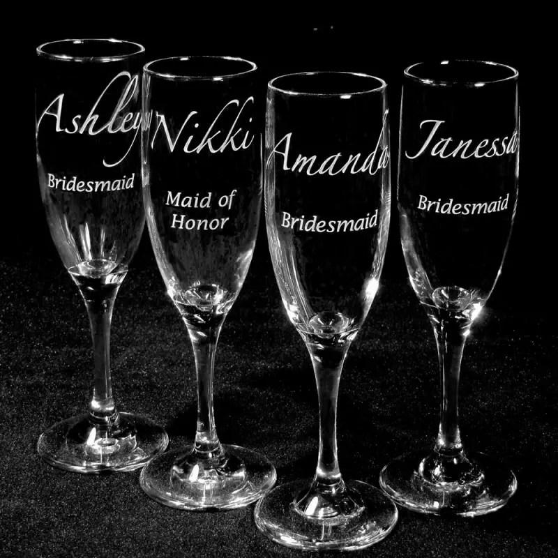 bridesmaid champagne flutes