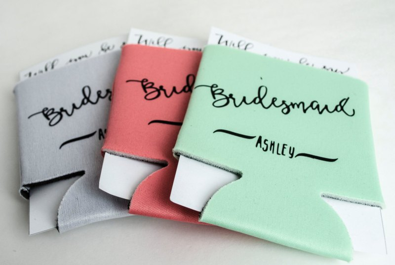 bridesmaid koozies
