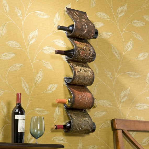 bronze wine rack via 27 Amazing Anniversary Gifts by Year http://emmalinebride.com/gifts/anniversary-gifts-by-year/