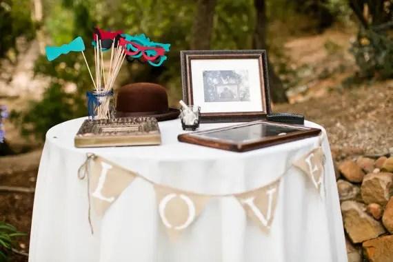 Burlap Wedding Banners - love