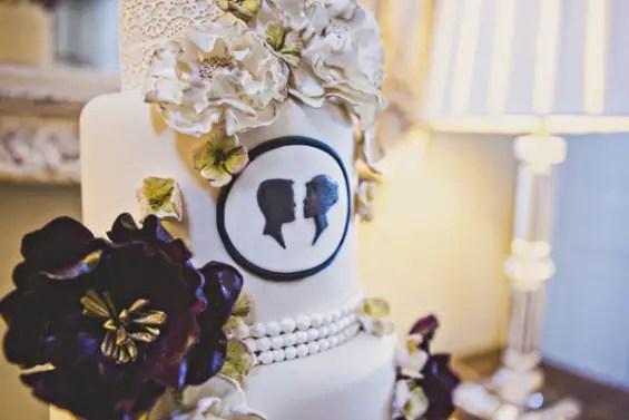 silhouette cake for weddings