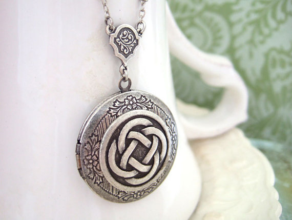 celtic wedding locket