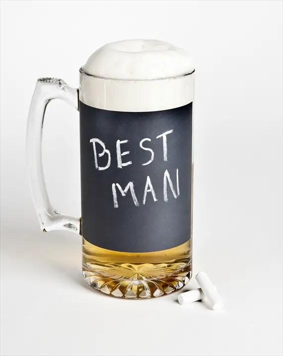 chalkboard mug via 12 Manly, Unique Groomsmen Gift Ideas