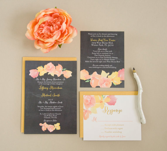 High Quality Chalkboard Wedding Invitation With Floral Design Via 8 Whimsical Wedding  Invitations