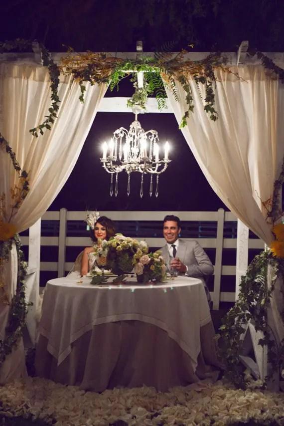 night wedding ideas: chandelier