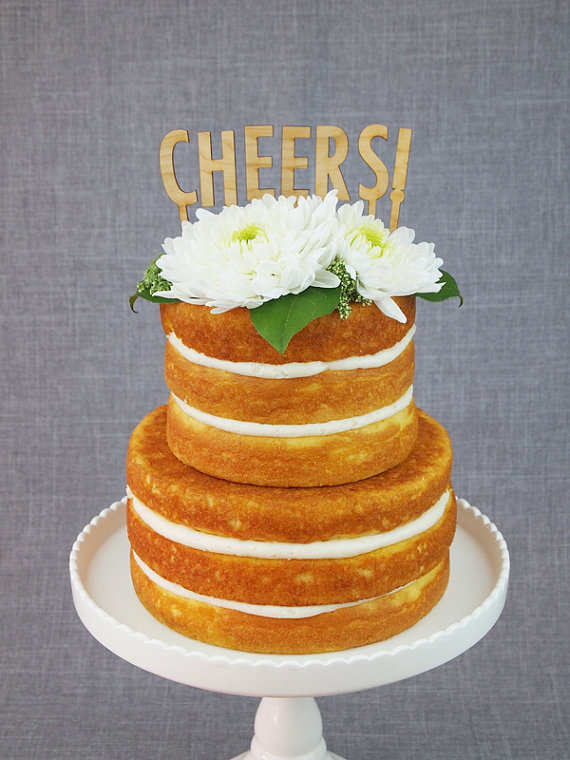 cheers | fun cake toppers in words