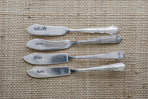 cheese spreaders by wooden hive