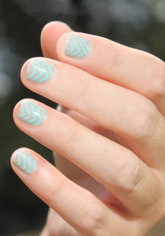 chevron nail wraps