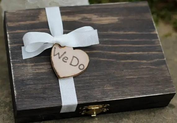 we do cigar ring box | via Rustic Ring Pillows http://emmalinebride.com/ceremony/rustic-ring-pillows/