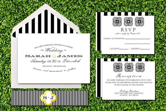 unique wedding invites | classic