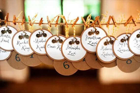 coaster escort cards wedding