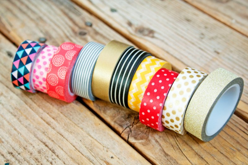 colorful washi tape