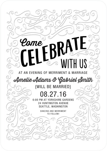 10 Letterpress Invitations with a Classic Look for Weddings