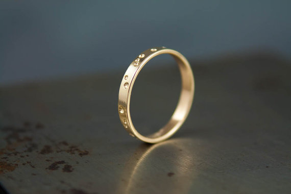 constellation wedding ring by venusvelvet | via Starry Night Weddings http://emmalinebride.com/vintage/starry-night-weddings-ideas/